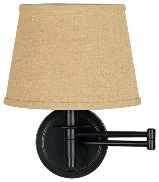 Wall Sconces Plug In : Traditional Kenroy Sheppard Oil Rubbed Bronze Plug-In Swing Arm Light - Transitional - Swing Arm ...