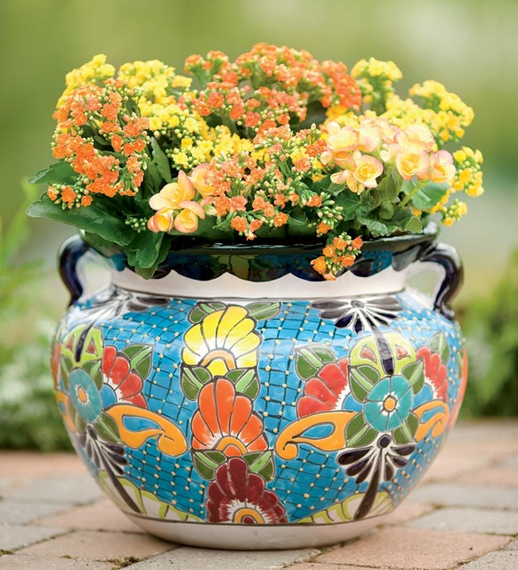 Unique Handcrafted Colorful Ceramic Talavera Planter