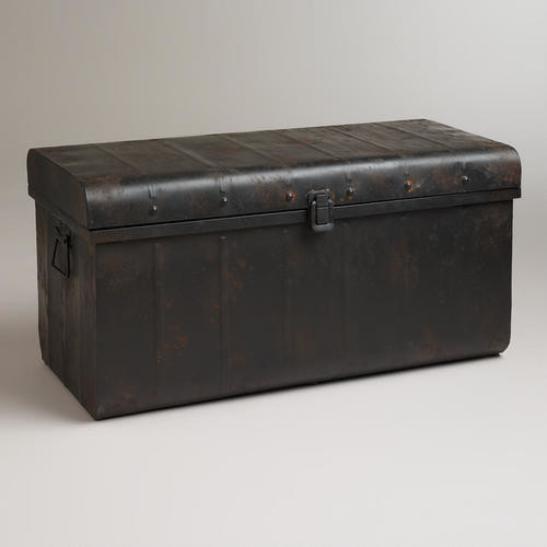 Vaughn Metal Trunk - Eclectic - Decorative Trunks - by Cost Plus World ...