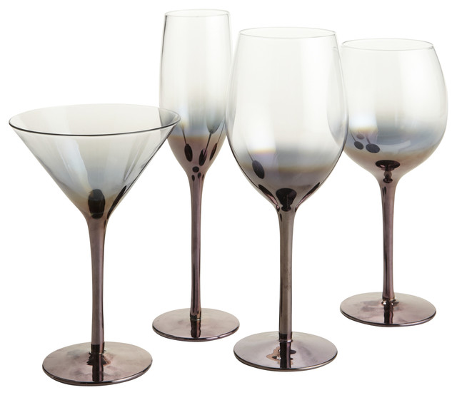 Metallic Bronze Stemware - Contemporary - Everyday Glasses - other metro - by Pier 1 Imports