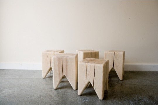 Stump by Kalon Studios contemporary ottomans and cubes