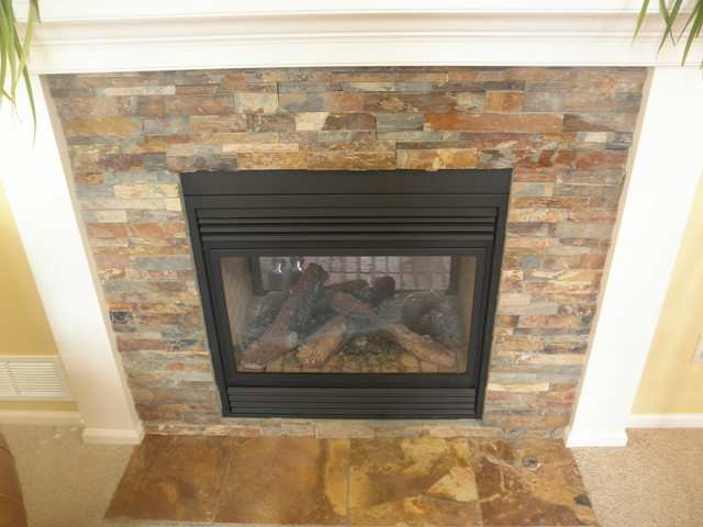 See Thru Fireplace Contemporary Denver By Colorado
