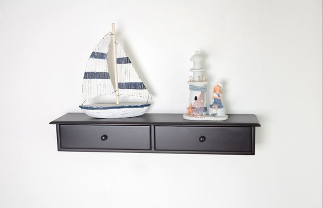 Wall Mount Cabinet, Wall Shelf With two Drawers - Modern - Display And ...