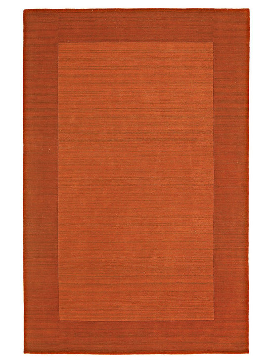 """Kaleen - Kaleen Regency Regency (Pumpkin) 3'6"""" x 5'3"""" Rug - Regency offers an array of fourteen beautifully elegant subtle tones for today's casual lifestyles. Choose from rich timeless hues shaded with evidence of light brush strokes. These 100% virgin wool, hand loomed rugs are sure to add comfort and warmth to any setting. Hand crafted in India."""