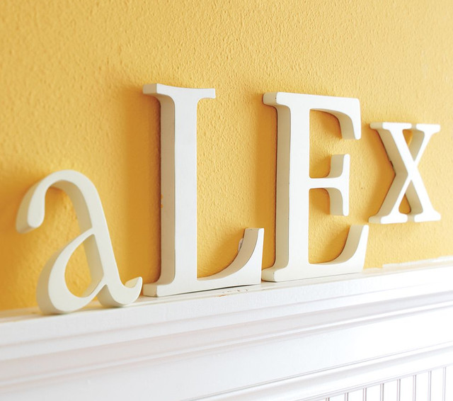 Lowercase Letters traditional kids decor
