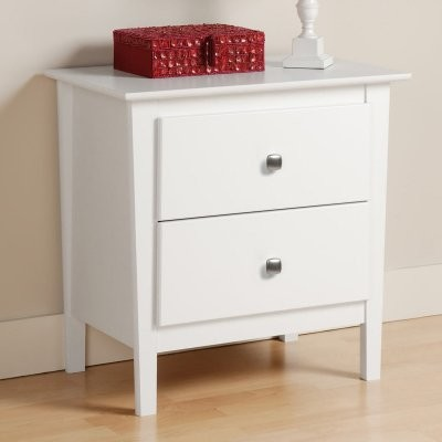 Berkshire 2 Drawer Nightstand - White modern-nightstands-and-bedside-tables