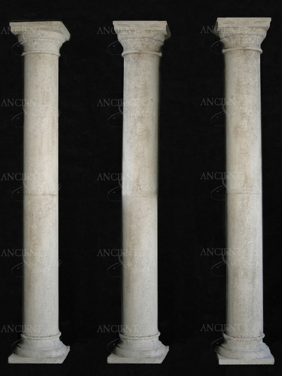 Limestone Columns - Antique Limestone Columns by 'Ancient Surfaces'