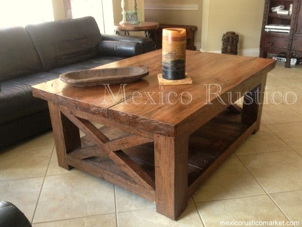 Rustic Center Table Pecan Wood Rustic Houston By