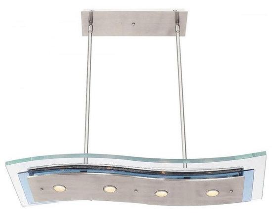 Access Lighting 50107-BS/CLR Four Light Steel Island Light -