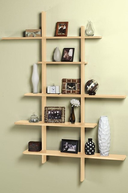 Tall Contemporary Display Shelf - Modern - Display And Wall Shelves - by Home Decorators Collection