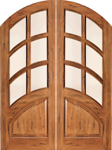 Rs 1135 arch top 6 lite dual insulated glass rustic solid for Insulated entry door