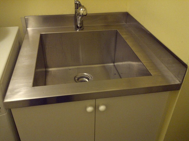 Laundry Tub Stainless Steel : Stainless Steel Laundry Tubs and Cabinets - toronto - by P.V.A ...