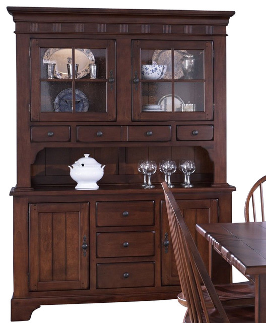 Liberty furniture treasures buffet w hutch in cherry