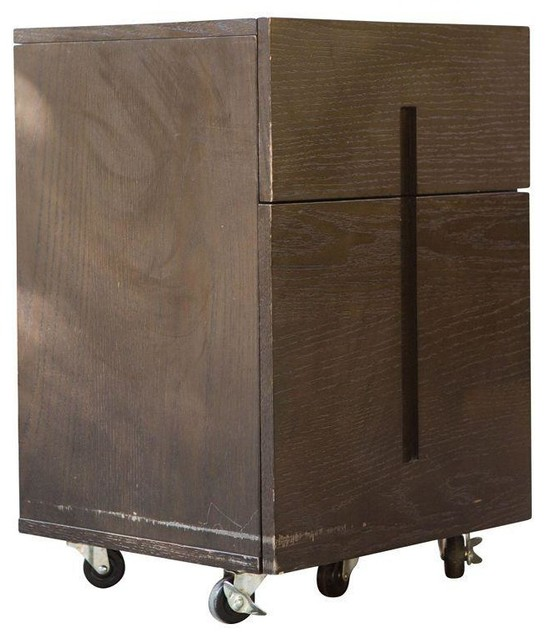 Parsons File Cabinet From West Elm - Modern - Filing Cabinets And Carts - by Chairish