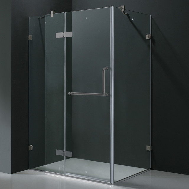 vg6011 36 x 48 frameless clear shower enclosure modern