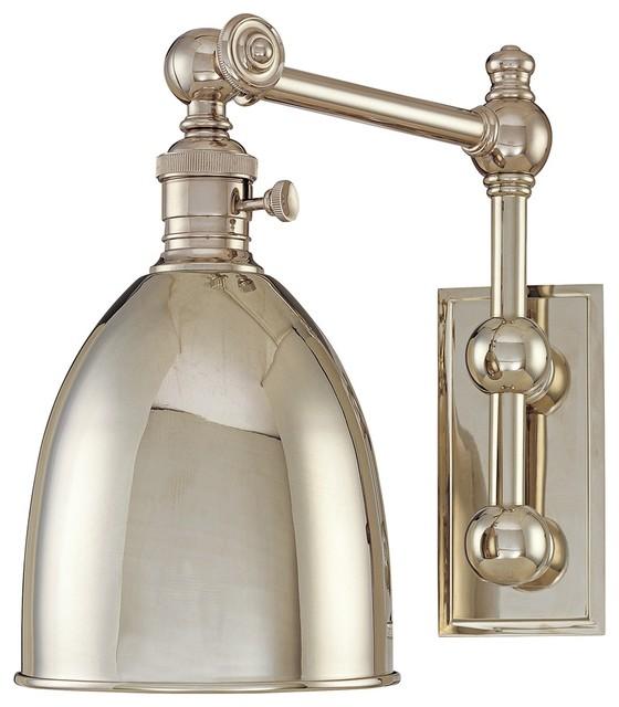Monroe Polished Nickel Adjustable Wall Light traditional-wall-lighting