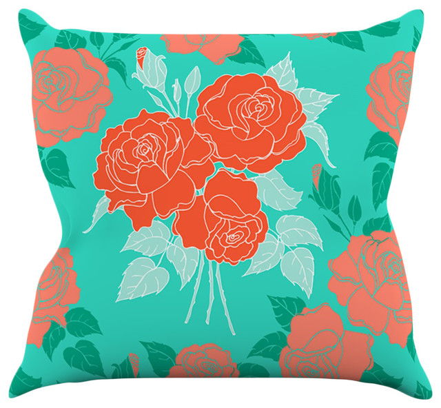 Teal Green Decorative Pillows : Anneline Sophia