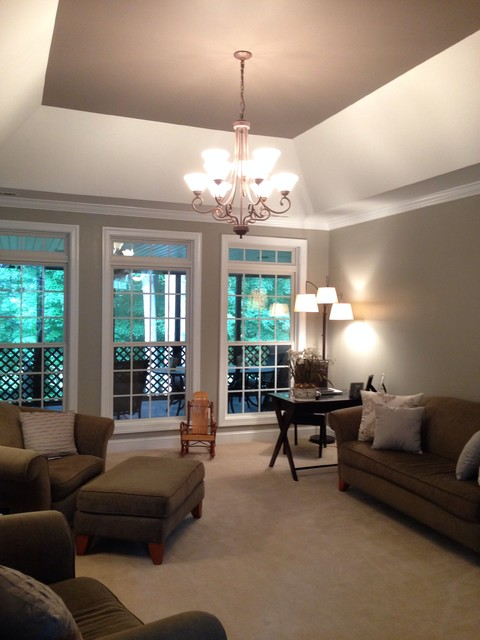 Our current living room right side sw perfect greige and for Current living room designs