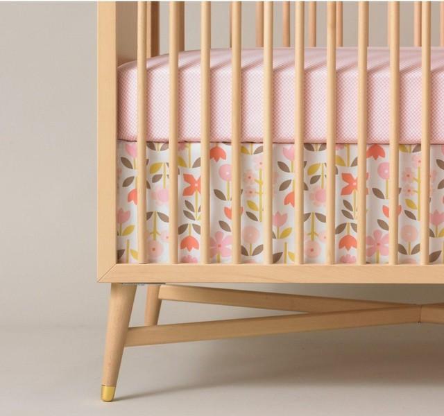 Dwell Studio Rosette Blossom Crib Skirt traditional-cribs