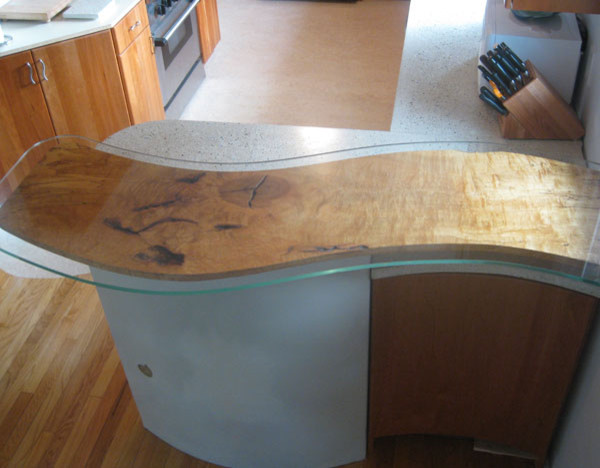 faux wood concrete countertop other metro