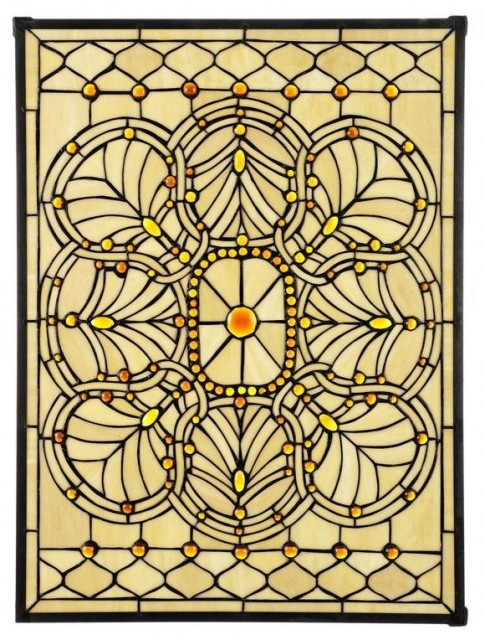 Geneva Art Glass Large Rectangle traditional windows