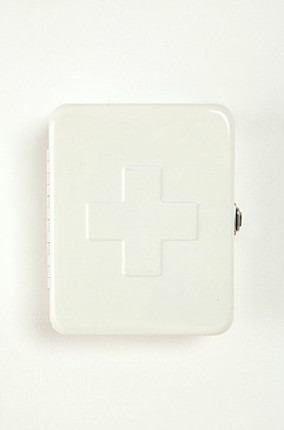 First Aid Storage Box, White contemporary bath and spa accessories