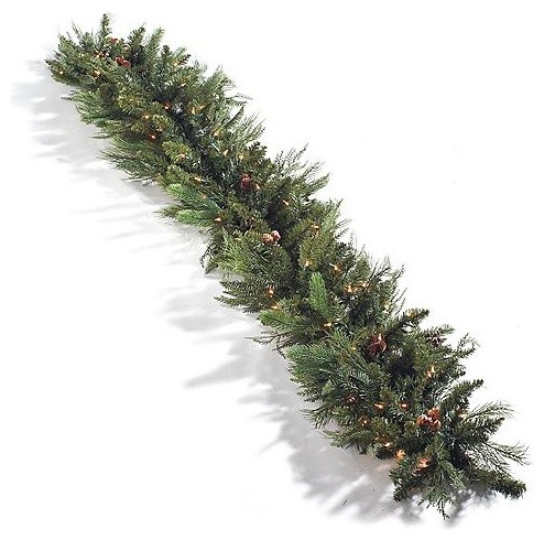 Majestic Double-sided Christmas Garland - 9' Christmas Decor traditional-holiday-decorations
