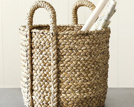 Ballard Designs - Newport Braided Round Baskets - Set of 2 - Natural texture and color. Not suitable for outdoor use. Baskets are such an attractive alternative to the usual storage options. You can never have too many! Our Set of Two Braided Round Baskets includes one Small and one Large size so you can store everything from kids' toys to kindling. Hand woven in chunky, twisted braids of natural Bankuan grass with two sturdy handles. Newport Braided Basket features: . .