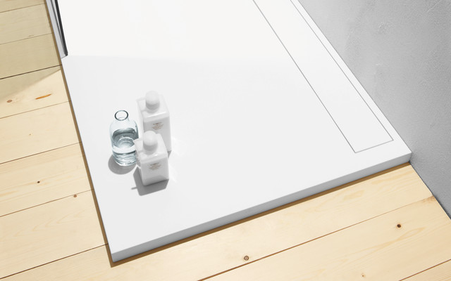 Corian shower tray modern-showerheads-and-body-sprays