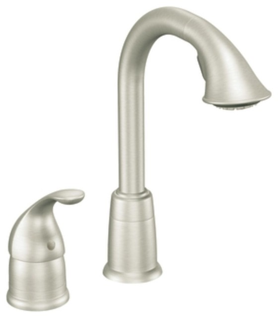 Moen Traditional Bathroom Faucet: Moen 5955CSL Camerist Single Handle High Arc Pulldown Bar