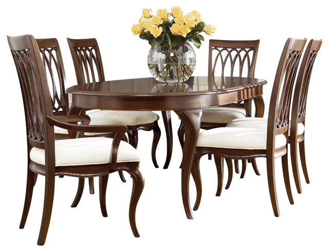 American Drew Cherry Grove NG 7 Piece Dining Room Set In Brown Traditional