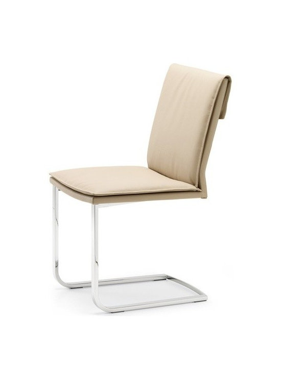 Cattelan Italia - Cattelan Italia | Liz Chair - Made in Italy by Cattelan Italia.Laze in style and indulge in the sheer comfort offered by the Liz Chair. This minimalist dining room essential is generously cushioned and wrapped in soft leather for a truly relaxing experience even during extended use. The chair's cantilever base not only provides support but also adds to its modern appeal. The absence of armrests gives a sense of openness and enables unrestrictive movement. Suitable for casual dining settings. Cover not removable. Materials sourced within Europe and meets European manufacturing standards.