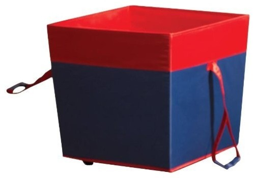 Medium Wheeled Toy Storage Navy modern-storage-bins-and-boxes