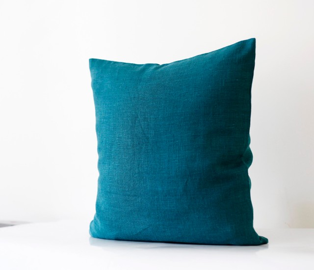 Decorative Pillows With Teal : Teal blue pillow cover