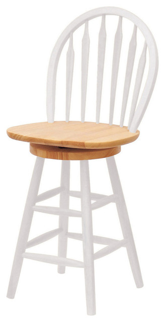 Winsome Wood Windsor 24 Inch Swivel Stool In Natural