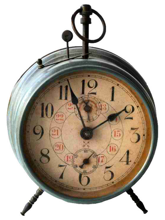 Alarm Clock - Decorative alarm clock from the early 20th. century with distinctive apparatus.