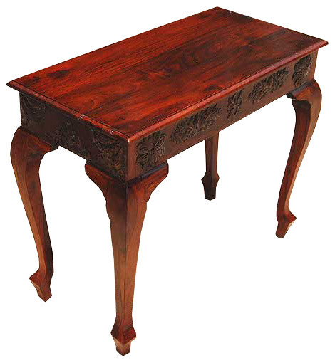 Traditional Foyer Bench : Queen anne style wood console foyer entry way table new