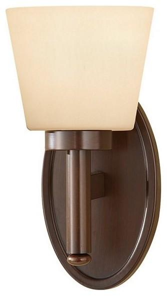 1 Bulb Heritage Bronze Vanity Strip contemporary-bathroom-lighting-and-vanity-lighting