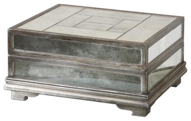 Trory Mirrored Decorative Box Traditional Decorative