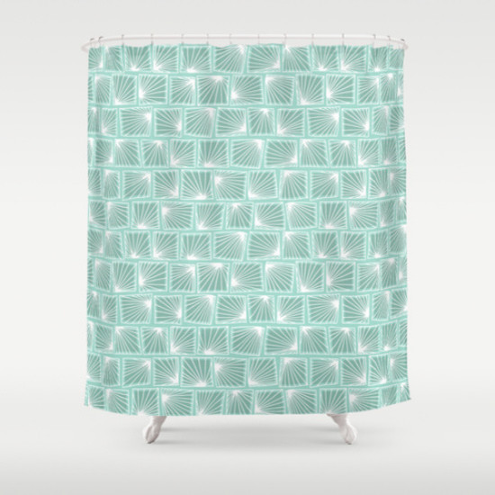 Seafoam Green Shower Curtain Beige Shower Curtain