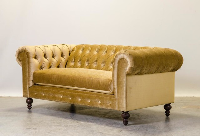 Gold Velvet Chesterfield