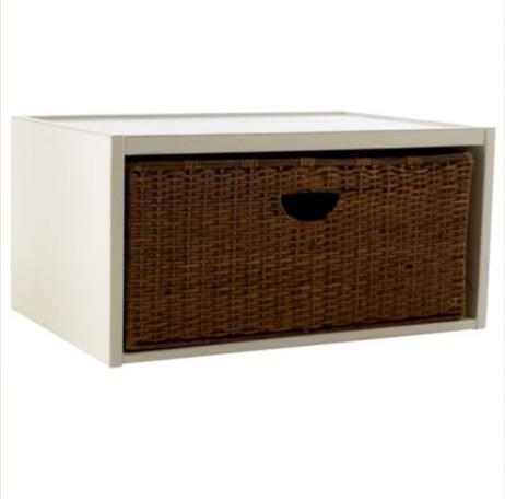 abbeville open shelf with basket beach style storage. Black Bedroom Furniture Sets. Home Design Ideas