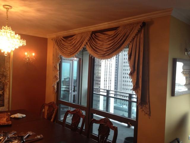 Drapery Treatments traditional-dining-room