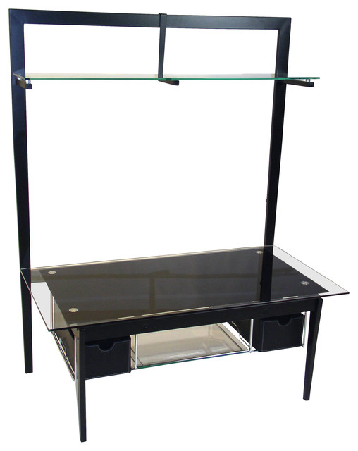 4D Concepts Entertainment Stand in Black Metal - Modern - Media Storage - by Beyond Stores