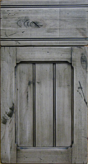 Knotty Alder Custom Shaker Style Distressed Cabinet Door Rustic Other Metro By Style Line