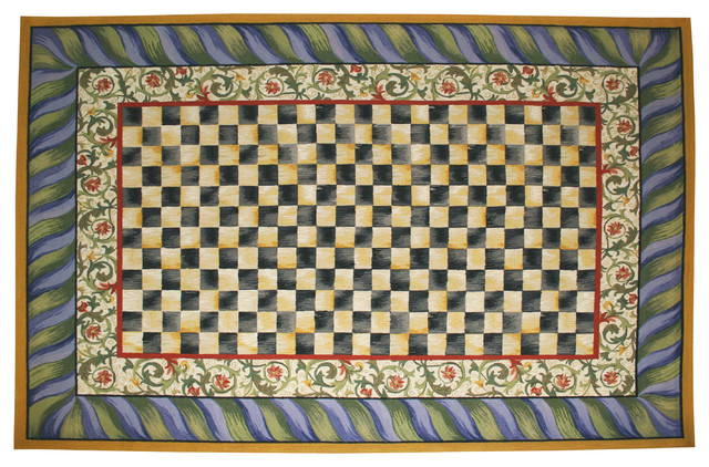 Courtly Check Rug - 10' x 14' Rectangle | MacKenzie-Childs eclectic-rugs
