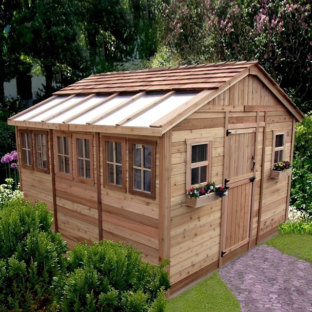 Sun Garden Shed traditional-sheds