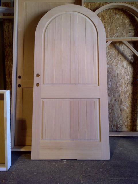 True Round Arch Top 2 Panel Raised With V Grooves Plank