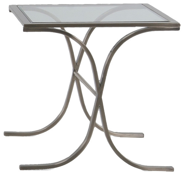 Dna Glass Top End Table Traditional Coffee Tables
