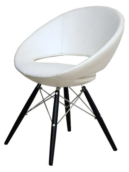 """Crescent MW Chair by sohoConcept - Crescent MW is a unique dining chair with a comfortable upholstered seat on a steel frame. Metal legs available with black powder, natural as well as stainless steel finishes. Each leg is tipped with a plastic glides. The seat has a steel structure with """"S"""" shape springs for extra flexibility and strength. This steel frame molded by injecting polyurethane foam. Crescent seat is upholstered with a removable zipper enclosed leather, leatherette or wool fabric slip cover. This chair with metal legs is especially made for commercial applications."""